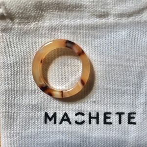 Machete Thick Stack Ring in Blush Tortoise